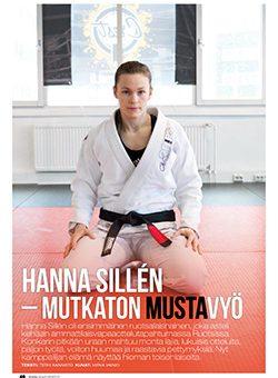 """Teksti: """"Hanna Sillén – Mutkaton mustavyö"""""""